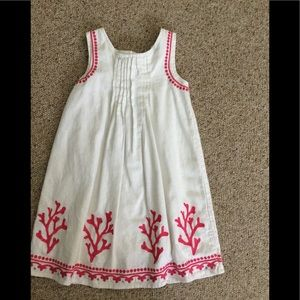Girls 6 Gymboree white dress